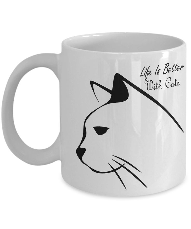 Cat Coffee Mug – Life is better with Cats – Grumpy Cat mug