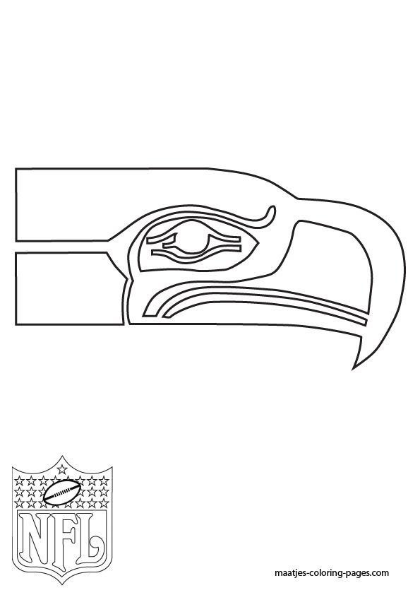 Seahawks Football Coloring Pages Seattle Seahawks Nfl Logo