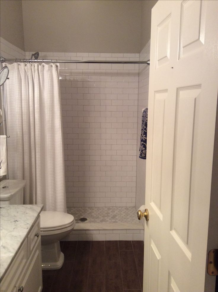 White Subway Tile Mapei Grout In Warm Gray Marble
