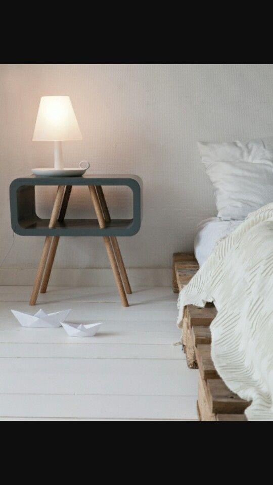 Nachtkastje  Slaapkamer ideeen  Pinterest