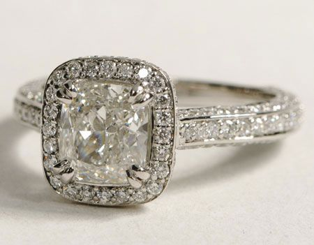 Radiant cut diamond engagement ring #weddings