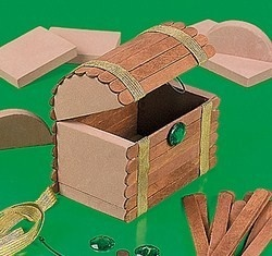 Treasure Chest Craft Kit Party Pirate Supply | eBay