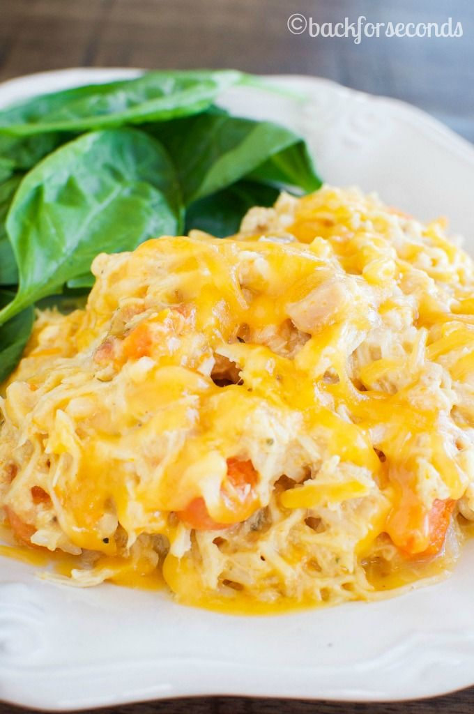 Easy Cheesy Crockpot Chicken - Such a great dinner for busy nights!