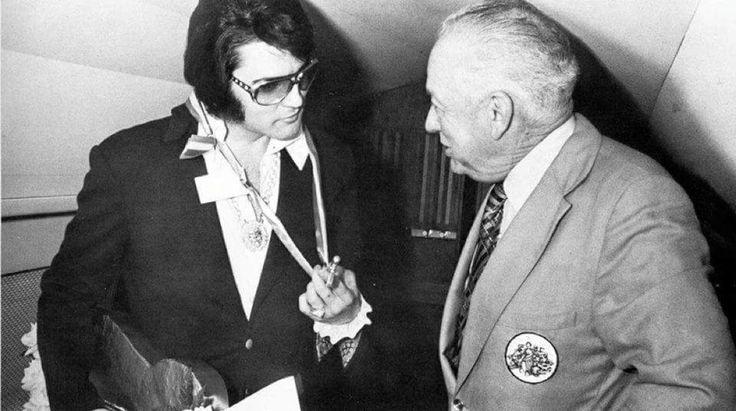 April 11, 1972: Elvis receiving the key to the city in Roanoke, Virginia from Mayor Mr. Roy Webber.
