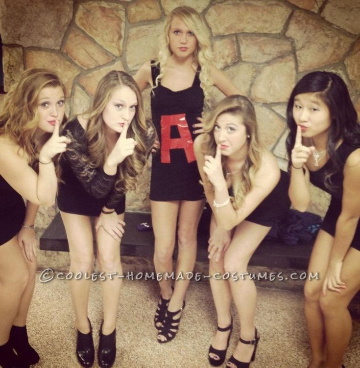 Last-Minute Pretty Little Liars Girl Group Costume ... This website is the Pinterest of costumes