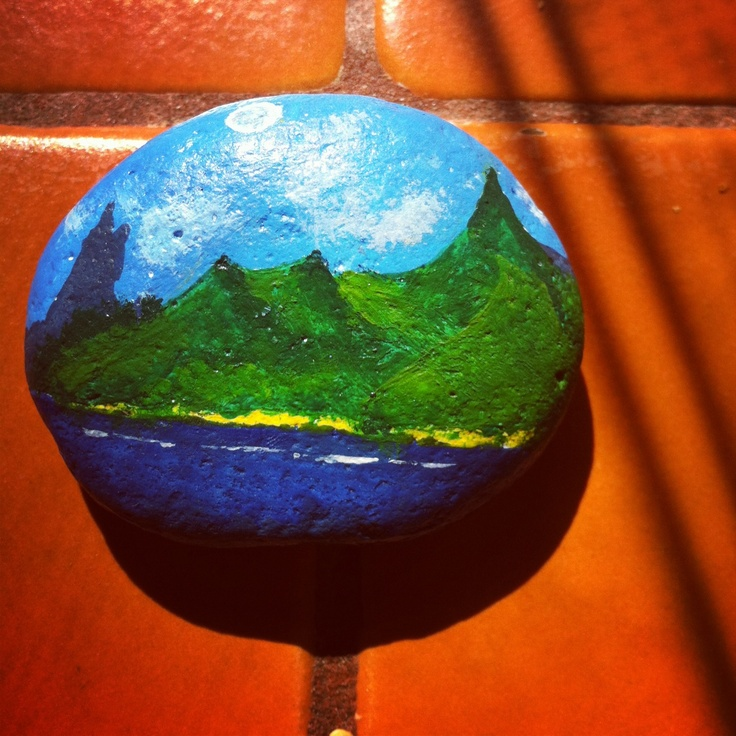 Arte en piedras copi la imagen de un calendario es for Pintura de piedras