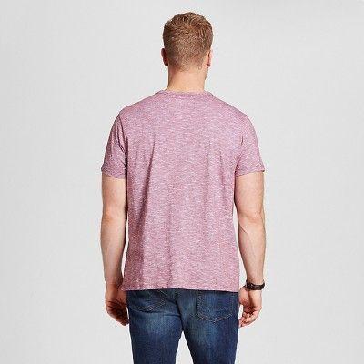 Men's Big & Tall V-Neck Jersey T-Shirt - Merona Red 5XB Tall, Size: 5X Big Tall