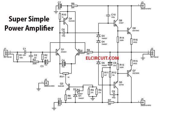 200w super simple power amplifier in 2019 hifi diy diy amplifier200w super simple power amplifier electronic circuit