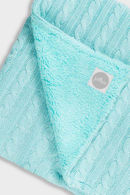 вязаный плед для новорожденных нефритовый средний вязание для