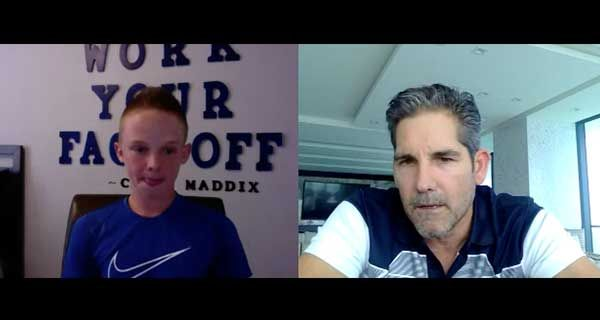Grant Cardone interviews 13 year old Caleb Maddix and gives him some huge pointers on hustling  this kid is one to watch  #entrepreneurlife