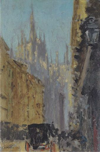 Walter Sickert - View of Milan Cathedral (1896)