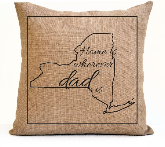 Decorative Pillow Cover For Dad Home Is Wherever Dad Is Personalized Pillow Father's Day Gift