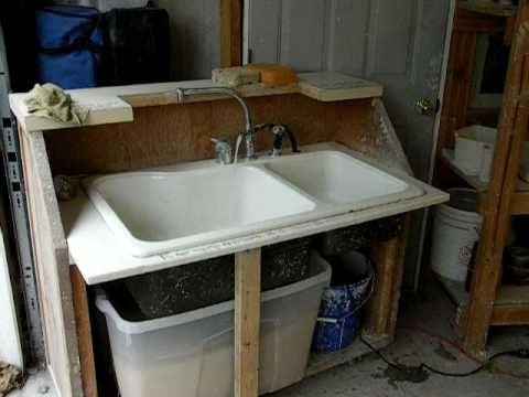 Portable sink for your studio. Have running water with out costs of plum...