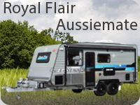 "With over thirty years experience in the Australian Caravan Industry, the team at Royal Flair are in touch with the needs of the Australian touring community. The ""Aussiemate"" is a testament to the commitment Royal Flair provides towards customers, enduring a caravan truly worthy of the Australian touring experience."