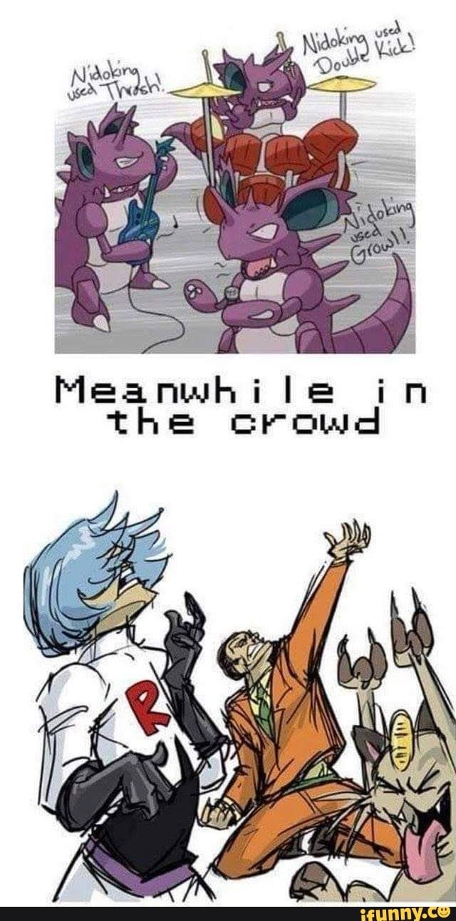 """L""""l the crowd Meanwhile iFunny ) Pokemon funny"""
