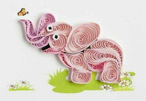 Quilling- Elephant