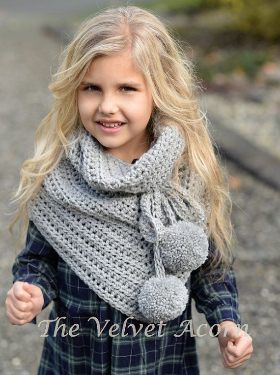 CROCHET PATTERN-The Pennon Shawl toddler child adult sizes