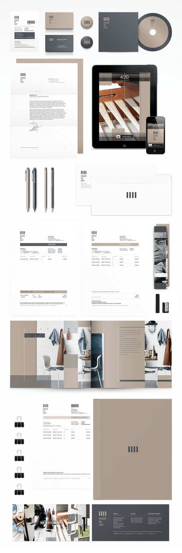 Made in Cat by Antitipo , via Behance | #stationary #corporate #design #corporatedesign #identity #branding #marketing < repinned by www.BlickeDeeler.de
