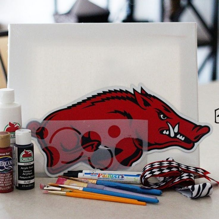 Building a House of Love: How to Paint Your Own Razorback Canvas