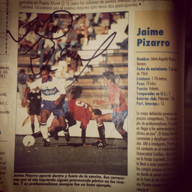 Autografo Jaime Pizarro #LosCruzados