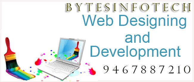 Professional BYTES INFOTECH Website Design Company with over 20 years of experience in website design and development. Let us use that experience to create the site of your dreams contact us now : 9467887210 www.bytesinfotech.com
