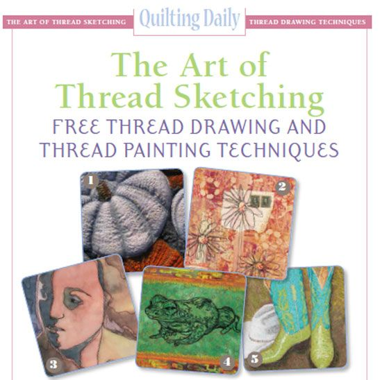 Thread sketching is a fun and creative way to sketch on fabric using thread. This free eBook shows you several ways to thread sketch and will get you started.