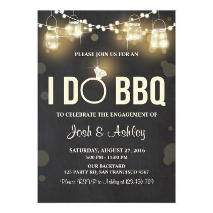 #engagement #party #invitations - #I Do BBQ Engagement Party Couples shower Rustic Card