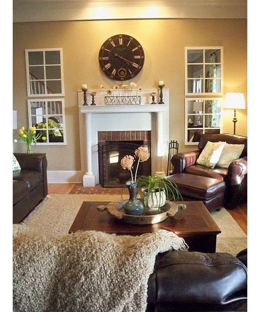 Love the mirror windows... Need to do that where I need more windows.   In love with home decoration - Home and Garden Design Idea's