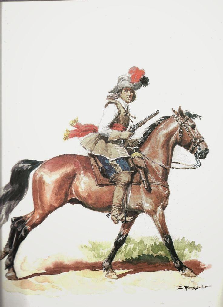 Guerre des Trente Ans - Cavalier Bavarois (2), by Lucien Rousselot.