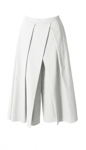 $287.50 Agathe Pleated Culottes. Fabrication: 48% Cotton, 45% Polyamide, 7% Elastane. Dry Clean Only.