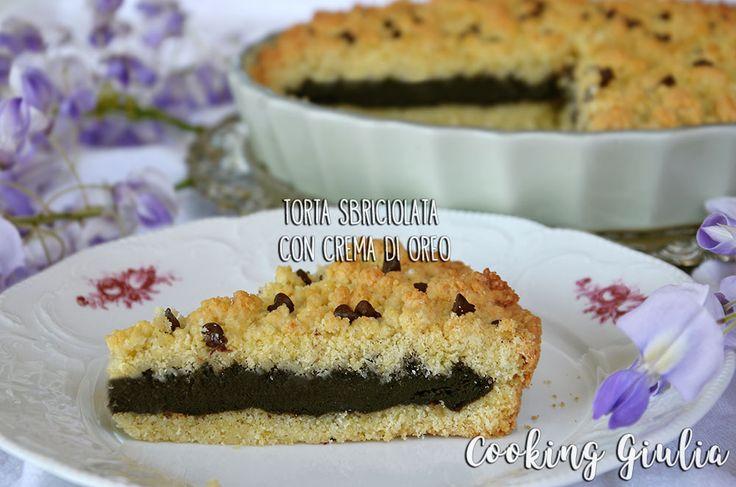 Ricetta della Torta Sbriciolata Oreo con gocce di cioccolato