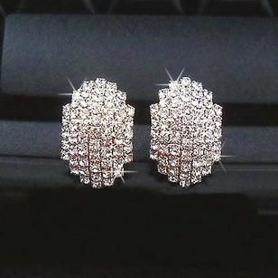 Silver Double Face Cuff Earrings - undefined - By sexybling.com