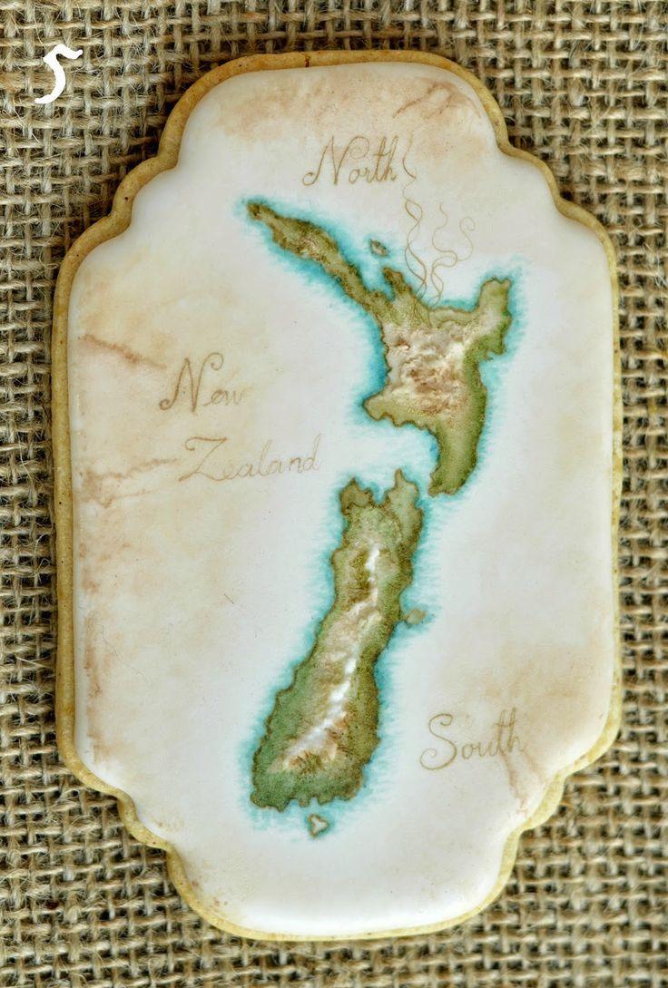 Vintage Map Cookie Tutorial
