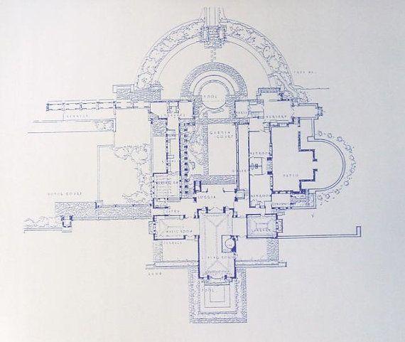Hollyhock House Frank Lloyd Wright Blueprint Frank Lloyd Wright Pinterest Lloyd Wright
