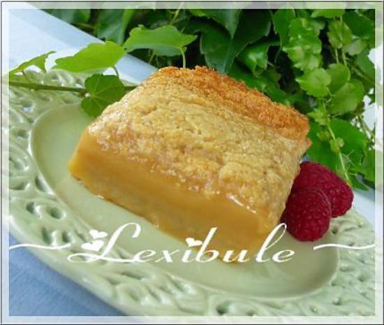 recette Carré Tarte au sucre