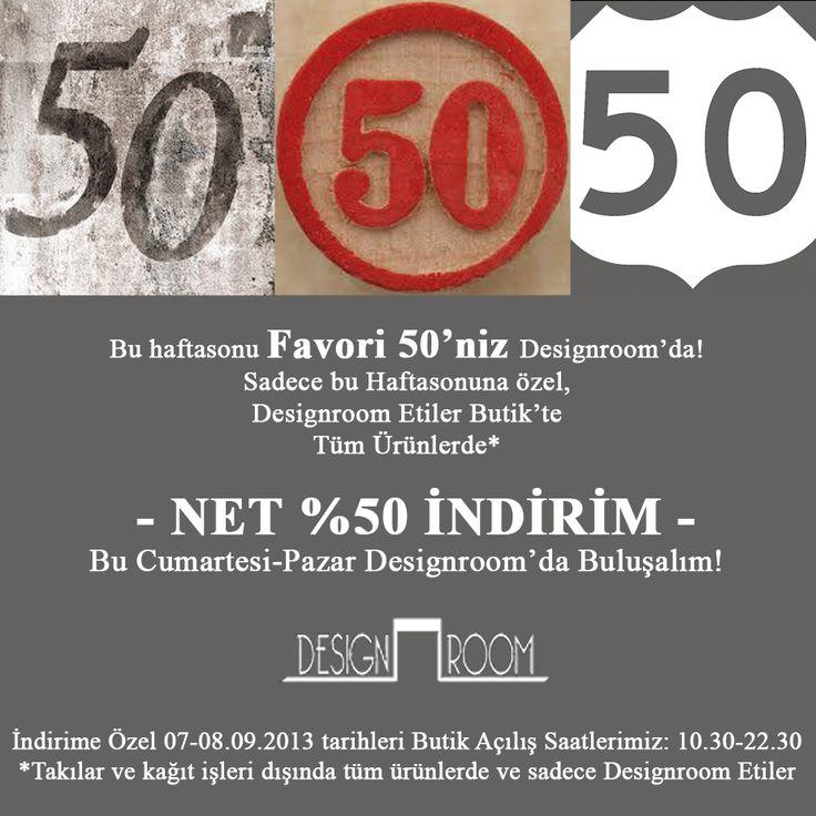 BURCU ARKUT: Designroom %50 İNDİRİM'de!