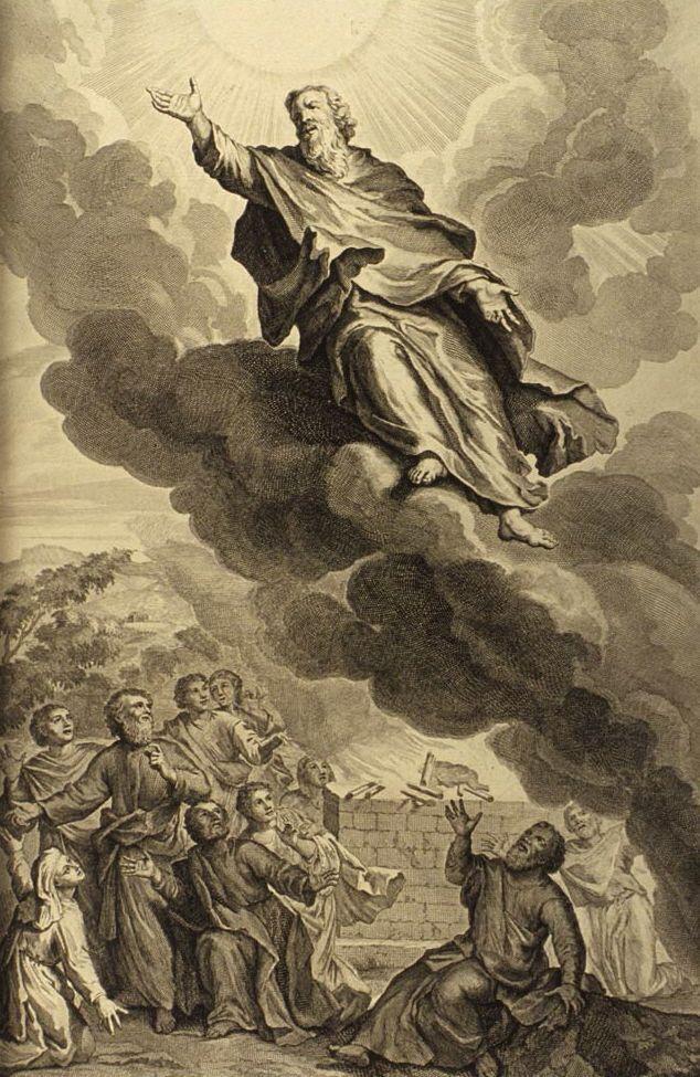 La antigua historia de un hombre que se volvió ángel: 1728 Figures de la Bible; ilustración por Gerard Hoet (1648–1733) Imagen cortesía de Bizzell Bible Collection, Bibliotecas de la Universidad de Oklahoma