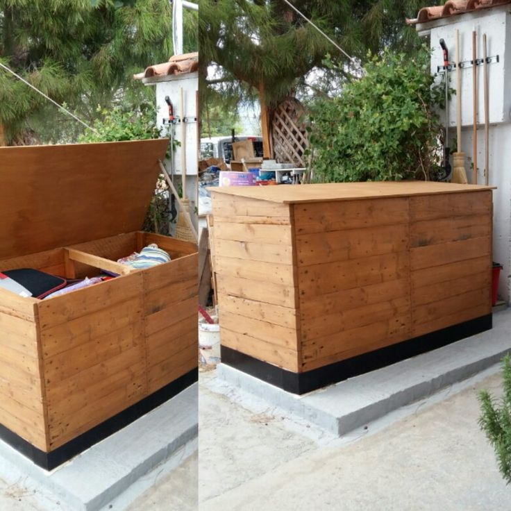 Storage wooden box-can put all the seating inside the box to protect from the weather