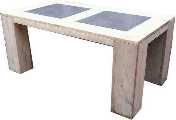 Steigerhouten tafel  www.trendyhout.nl