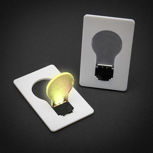 Light bulb that fits in your wallet! #tools #geek #gifts