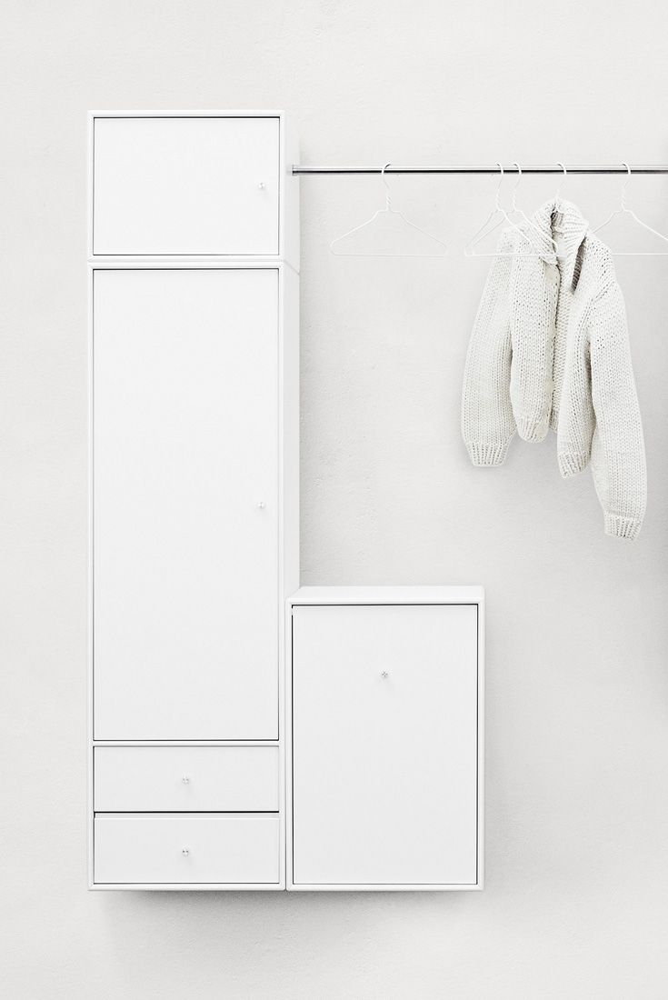 Montana Wardrobe in white. #montana #wardrobe #furniture #danish #design #nordic #style #clothes #storage #solution