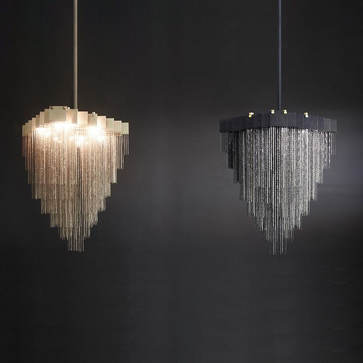 The Glamorous Kelly Chandelier Is Features Delicate Chains Hanging From Brass Plates