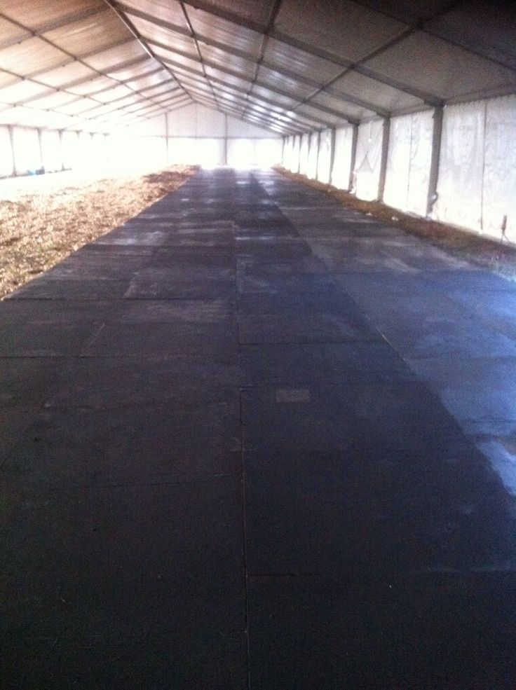 black painted shutter ply floor in a marquee at Rocking the Daisies