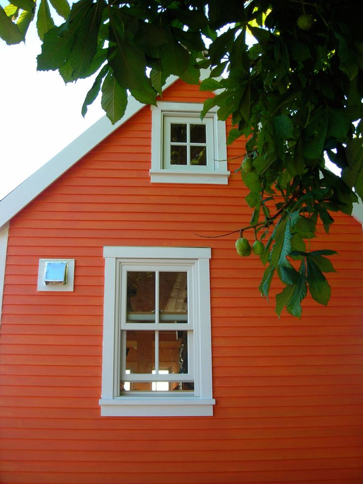 "Our Tiny House | Tiny House Swoon they used ""orange you tempted"" by Mythic Paints"