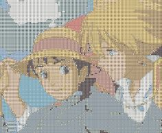 Howl and Sophie Crosstitch Pattern