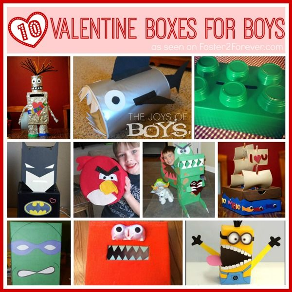 Check out these10 Valentines Day box ideas for boys! via @Foster2Forever: Penelope: Penelope #DIY #kids #craft