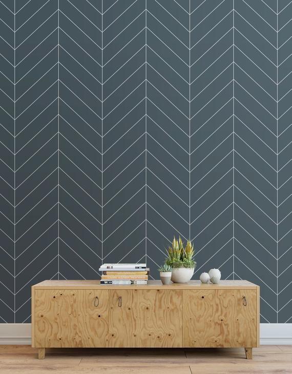 Herringbone Wallpaper Peel And Stick Tiles Modern Wallpaper Panels Dark Blue Herringbone Wallpaper Grey Herringbone Wallpaper Classic Wallpaper