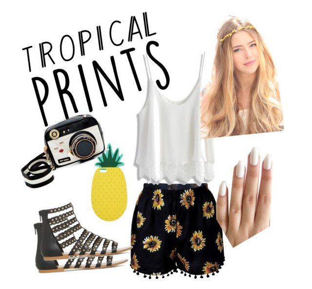 """""""Tropical Prints"""" by just-teriv on Polyvore featuring Chicwish, Miss Selfridge, Betsey Johnson, tropicalprints and hottropics"""