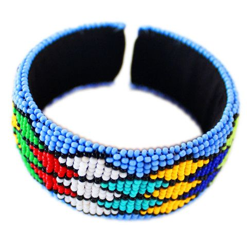 Light Blue Zulu beaded bangle