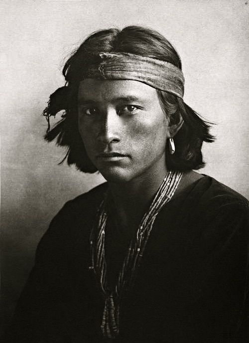 a young Navajo native American